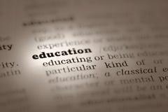 Onderwijs-woordenboek definitie Royalty-vrije Stock Foto