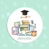 Onderwijsachtergrond terug naar het instituut van de schooluniversiteit het leren Stock Foto