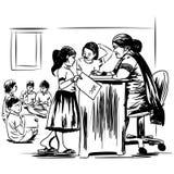 Onderwijsbeheer in India stock illustratie