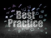 Onderwijsconcept: Beste praktijken in grungedark Royalty-vrije Stock Fotografie