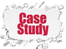 Onderwijsconcept: Gevallenanalyse over Gescheurd Document Stock Foto's
