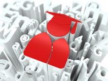 Onderwijsconcept op Alfabetachtergrond. Stock Afbeeldingen