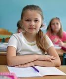 Onderwijsconcept, schoolkinderen, les stock fotografie
