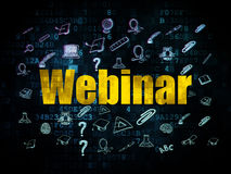 Onderwijsconcept: Webinar op Digitale achtergrond Royalty-vrije Stock Foto