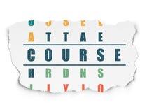 Onderwijsconcept: woordcursus in het oplossen Stock Afbeeldingen