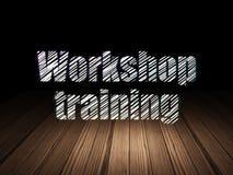 Onderwijsconcept: Workshop Opleiding in grunge Stock Foto's