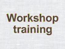 Onderwijsconcept: Workshop Opleiding op stof vector illustratie