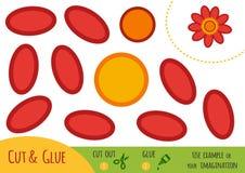 Onderwijsdocument spel voor kinderen, Bloem stock illustratie