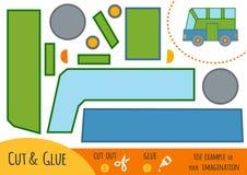 Onderwijsdocument spel voor kinderen, Bus stock illustratie