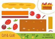 Onderwijsdocument spel voor kinderen, Cake vector illustratie