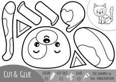 Onderwijsdocument spel voor kinderen, Kat vector illustratie