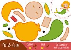 Onderwijsdocument spel voor kinderen, Meermin stock illustratie