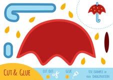 Onderwijsdocument spel voor kinderen, Paraplu stock illustratie