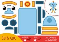 Onderwijsdocument spel voor kinderen, Robot stock illustratie