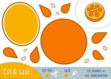 Onderwijsdocument spel voor kinderen, Sinaasappel royalty-vrije illustratie