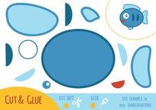 Onderwijsdocument spel voor kinderen, Vissen royalty-vrije illustratie