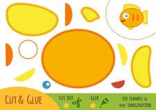 Onderwijsdocument spel voor kinderen, Vissen stock illustratie