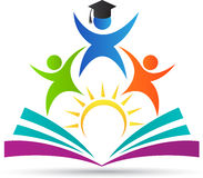 Onderwijsembleem stock illustratie
