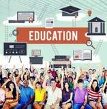 Onderwijskennis die Bestuderend Ideeënconcept leren royalty-vrije stock foto