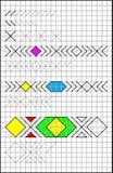 Onderwijspagina met oefeningen voor kinderen op een vierkant document Royalty-vrije Stock Afbeeldingen