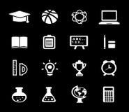 Onderwijspictogrammen - één kleur stock illustratie