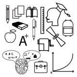 Onderwijspictogrammen Royalty-vrije Stock Afbeelding