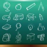 Onderwijspictogrammen Royalty-vrije Stock Foto's