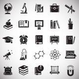 Onderwijspictogrammen op witte achtergrond voor grafisch en Webontwerp worden geplaatst, Modern eenvoudig vectorteken dat Het con stock illustratie