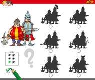 Onderwijsschaduwspel met ridders stock illustratie