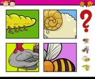 Onderwijsspel met dieren Royalty-vrije Stock Afbeeldingen