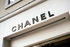 Onderwijst de opslag Chanel in Venetië Royalty-vrije Stock Foto