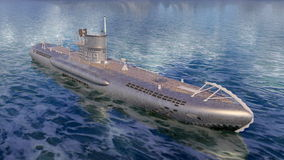 onderzeeër stock foto