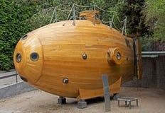 Onderzeeër bij het Maritieme Museum - Barcelona Stock Fotografie