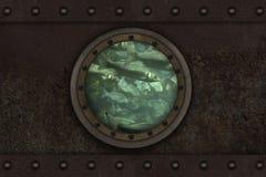 Onderzeese gepantserde patrijspoort Royalty-vrije Stock Foto's