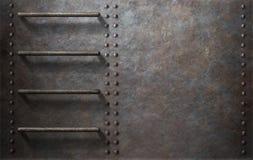 Onderzeese metaal zijachtergrond met treden Stock Fotografie