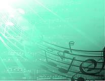 Onderzeese muzieknota's Stock Foto's