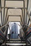 Onderzeese uitgangsladder aan buitentoren Stock Foto