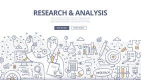 Onderzoek & Analysekrabbelconcept stock illustratie