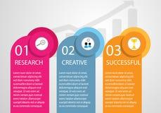 Onderzoek bedrijfsinfographicsonderzoek, creatief en succesvol stock illustratie