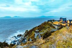 Onderzoek de bergen van Putuoshan in China royalty-vrije stock foto's