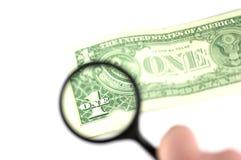 Onderzoek de dollar royalty-vrije stock afbeeldingen