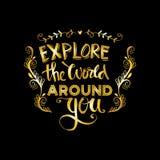 Onderzoek de wereld rond u Royalty-vrije Stock Foto's