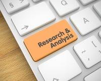 Onderzoek en Analyse van de Oranje Toetsenbordsleutel 3d Royalty-vrije Stock Afbeeldingen