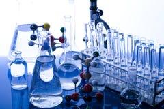 Onderzoek en experimenten Stock Foto