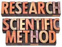 Onderzoek en wetenschappelijke methode Stock Foto