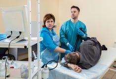 Onderzoek in endoscoopruimte stock fotografie