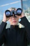 Onderzoek het bedrijfs van de Vrouw Royalty-vrije Stock Afbeelding