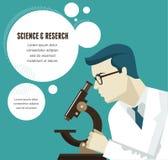 Onderzoek, infographic Biotechnologie en Wetenschap stock illustratie