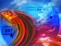 Onderzoek Internet stock illustratie