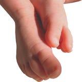 Onderzoek met uw voeten stock afbeeldingen